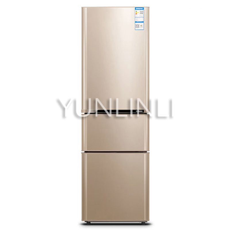 Household Three-door Type Refrigerator  Domestic Energy-saving Refrigerator   206L Large Capacity Household Fridge  BCD-206GX3S