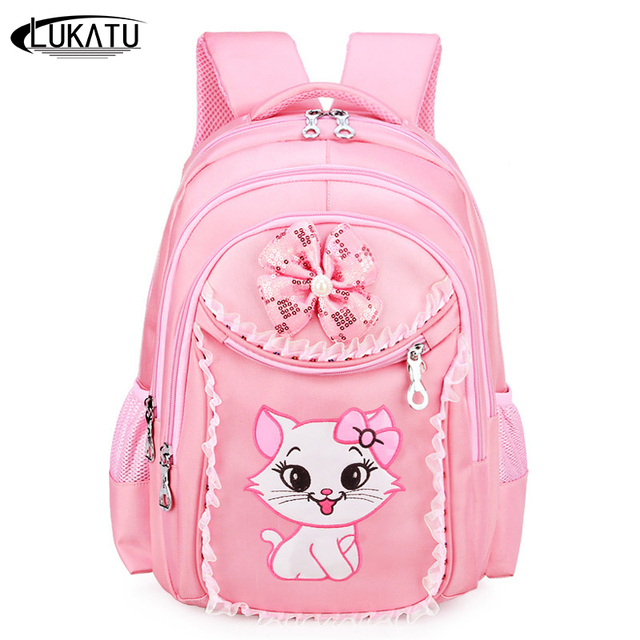 72ca0e627e LUKATU Fashion Children s School Bag Girls Cute Backpack High Quality Large  Capacity Student Book Bags Schoolbag