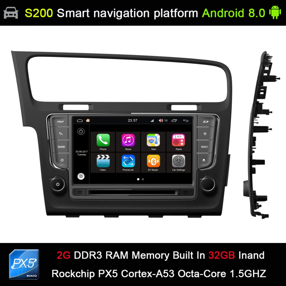 Buy Android 80 System Px5 Octa 8 Core Cpu 2g Ram Automobile Interior Lights Fader 32gb Rom Car Dvd Radio Gps Navigation For Volkswagen Vw Golf 7 2013 2017 From Reliable
