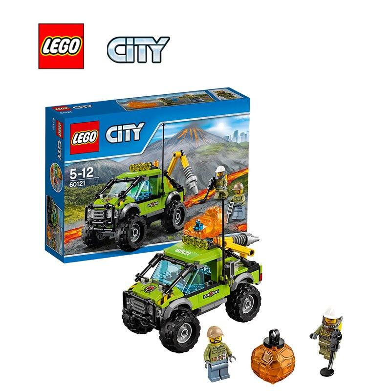 ФОТО LEGO City Volcano Exploration Truck Architecture Building Blocks Model Kit Plate Educational Toys For Children LEGC60121
