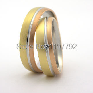 top quality custom made titanium his and hers matching engagement wedding band ring set cheap discount custom tailor titanium engagement ring wedding band his and hers lover bridal rings sets titan trauringe