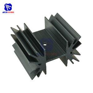 Aleta refrigerando do dissipador de calor de alumínio de 35x42x25.4mm ic para transistores mosfet do módulo