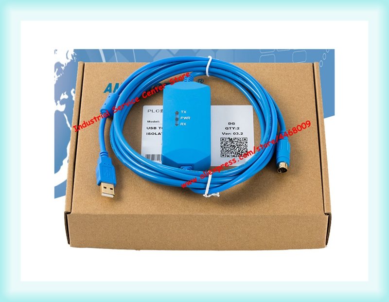 Applicable to Delta DVP series PLC programming cable USBACAB230 USB DVP isolated data download cable