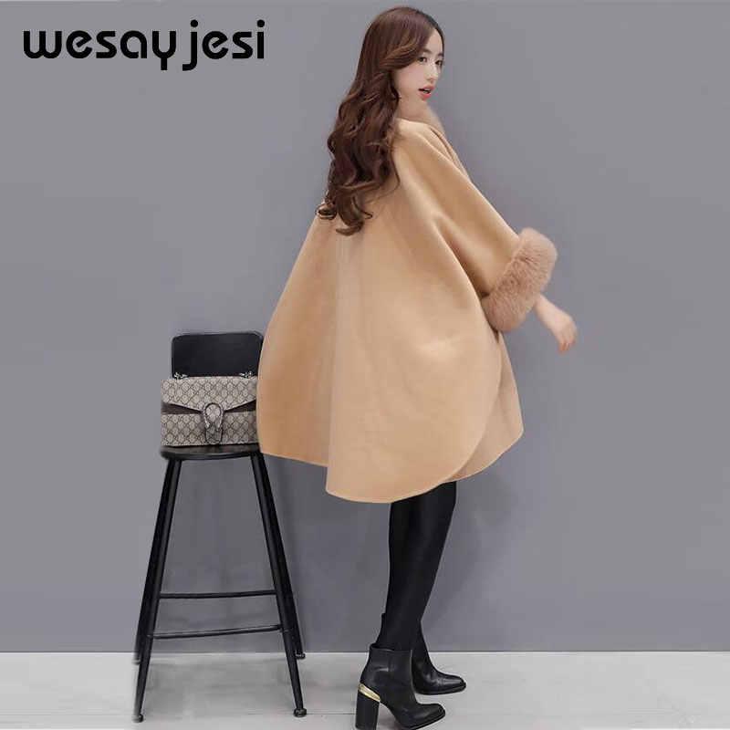 Maglione donne maglione lungo cardigan di modo Poncho E Mantelle delle donne maglieria invernale vestiti delle donne cappotto a maniche lunghe caldo streetwear