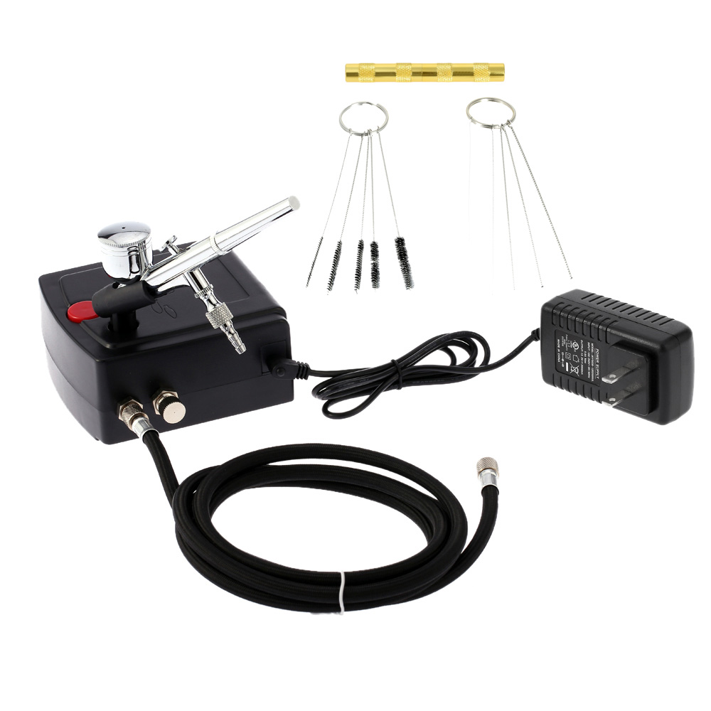 Dual Action Airbrush Air Compressor Kit aerografo for Art Painting Tattoo Manicure Craft Cake Spray Model Air Brush Nail ToolSet 53000459