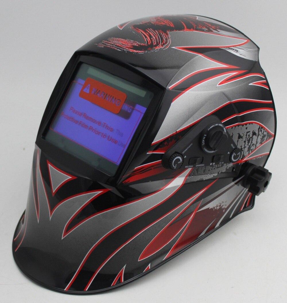 Auto assombrissement casque de soudage/masque de soudage/MIG MAG TIG (YOGA-818E FLAMME)/4arc capteur/Retard temps/Sensibilité/variable (À L'extérieur)