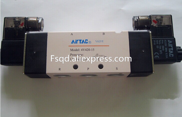 4V420-15 AIRTAC  solenoid valve pneumatic tools Quality electromagnetic valve  Voltage is 220V sy7220 5lze 02 smc solenoid valve electromagnetic valve pneumatic component air tools sy7000 series