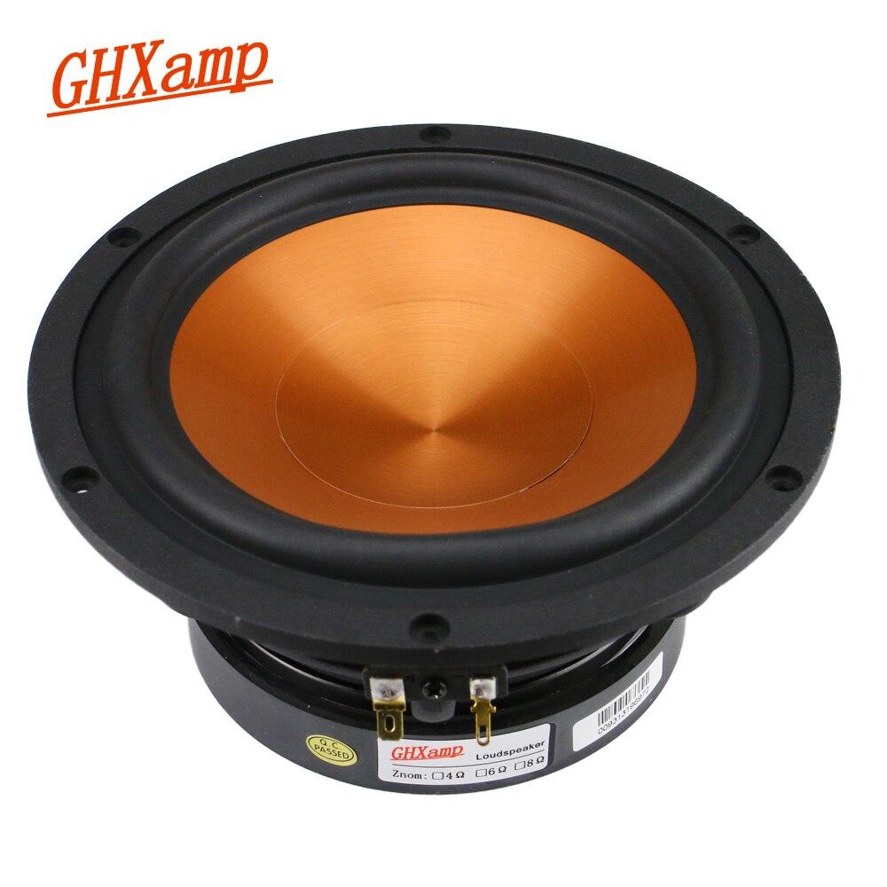 GHXAMP Hifi 6.5 pouces mi-basse haut-parleur 8ohm 40 W Home cinéma médiums Woofer haut-parleur alumine céramique 1 PC