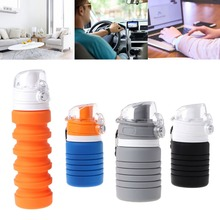 Silicone 500ML Creative Collapsible Water Bottles For Sports Camping Travel