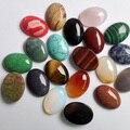 Envío gratis 30 unids/lote 18x25mm Mezcla de piedra Natural Oval CABOCHON CAB joyería de ópalo Al Por Mayor/de cuarzo rosa/ojo de tigre cuentas de piedra