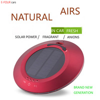 E FOUR Car Air Purifier Solar Power Air Purify Perfume for Car House Office Using Perfumes Freshener Clean Green Natural Cars