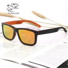 AN SWALLOW Beech Wood Men Sunglasses Polarized Wooden Sun Glasses for Women Blue Green Lens Handmade Fashion Brand Cool UV400