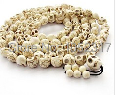 18 style Classic Skull Head Bead Buddhist Meditation 108 Buddha Bead Prayer Bead Mala Bracelet/Necklace 10x12mm tibet tibetan turquoise buddhist buddha prayer bead bracelet dzi eye pendant necklace sweater chain jewelry gift wholesale
