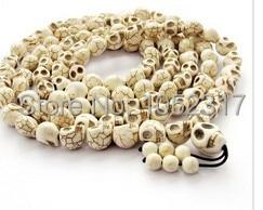 18 style Classic Skull Head Bead Buddhist Meditation 108 Buddha Bead Prayer Bead Mala Bracelet/Necklace 10x12mm