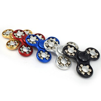 Fidget Spinner Rainbow Colour Hand Finger Tri Crab Minutes Spinner Aluminium Material Luxury Awesome Toys Unique