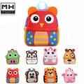 2016 Neoprene Children's Gifts Kindergarten owl Boy Backpack Baby Children School Bags For Girls Teenagers Kid Toy Bag mochila
