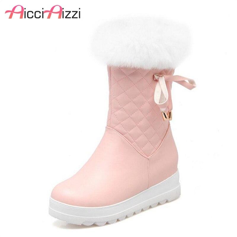 Neue Ankunft 2018 Warme Schnee Stiefel Damen Über Die Knie Stiefel Wasserdicht Weibliche Flache Ferse Lange Frauen Winter Unten Stiefel größe 35 44