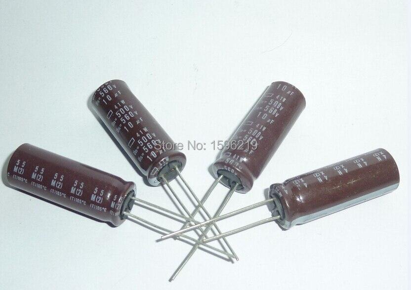 20pcs 10uF 500V NIPPON 41W Series 12.5x35mm Original 500V10uF Aluminum Electrolytic Capacitors
