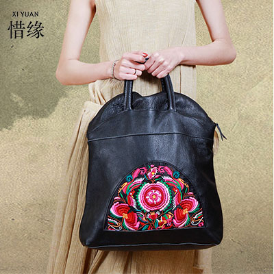 luxury Woman National trend Embroidery cross-body messenger Bags lady Flower Embroidered One Shoulder hand Bag Big Handbags free shipping 2016 hot sale national trend bags one shoulder cross body women s canvas handbag embroidered vintage elegant bag