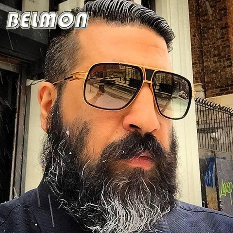 Belmon أزياء النظارات الشمسية الرجال النساء الفاخرة مصمم المتضخم نظارات الشمس للذكور السيدات uv400 اللونية RS162