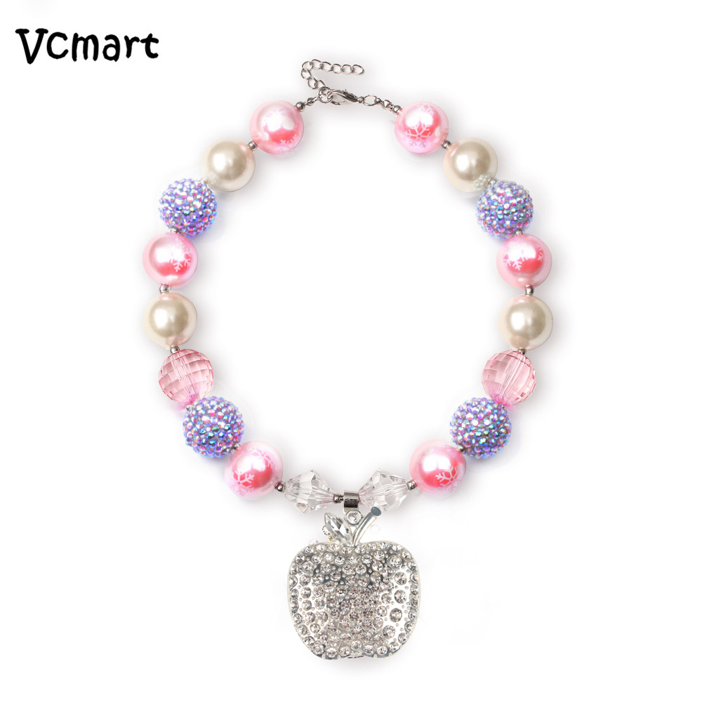 Dynamic European Fashion Chunky Necklace Kids Girls Princess Unicorn Bubblegum Jasmine Necklace Girls Jewelry Diy Colorful Beads Beads Toys