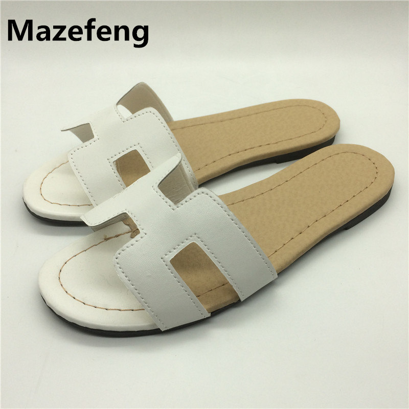 2017 Summer New Female Slippers Flat Korean Fashion Tide Women Shoes Slippers Sandals Zapatos Mujer Word