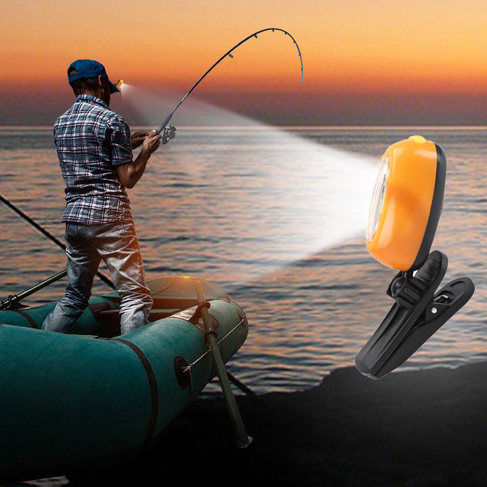 LED COB Cap Light Headlamp 3Modes Ball Hat Lamp Flashlight Torch fishing tools