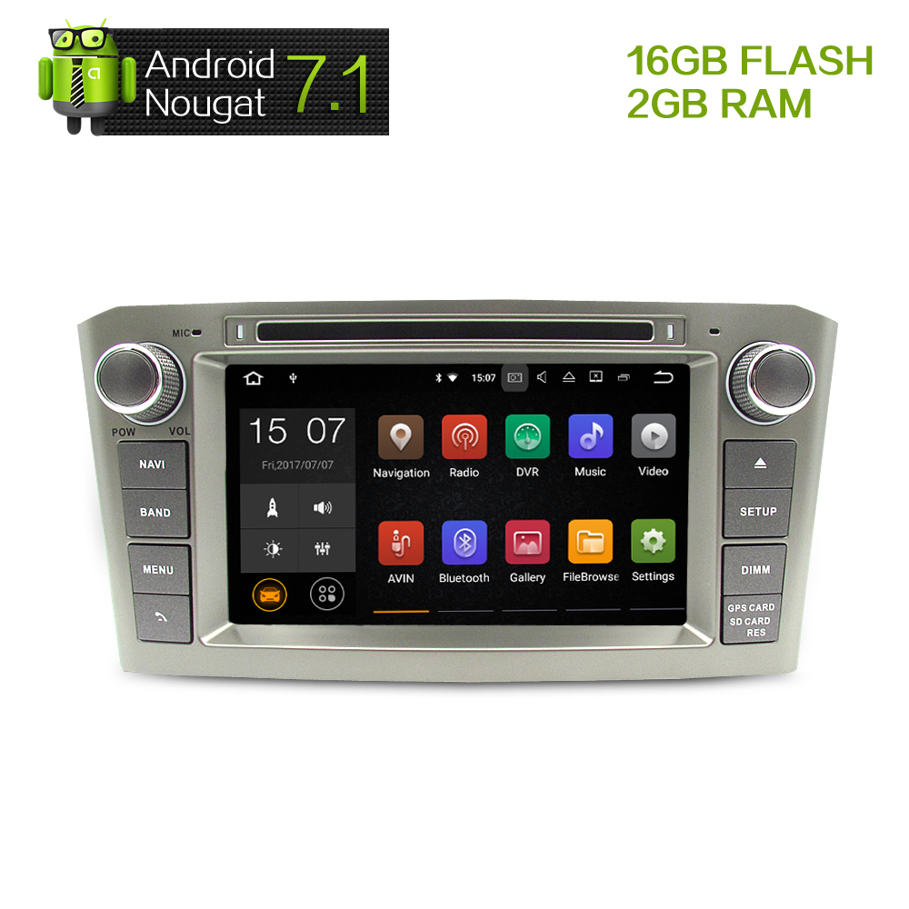 7 2G RAM Android 7 1 Car DVD Stereo Multimedia Headunit For Toyota Avensis T25 2003
