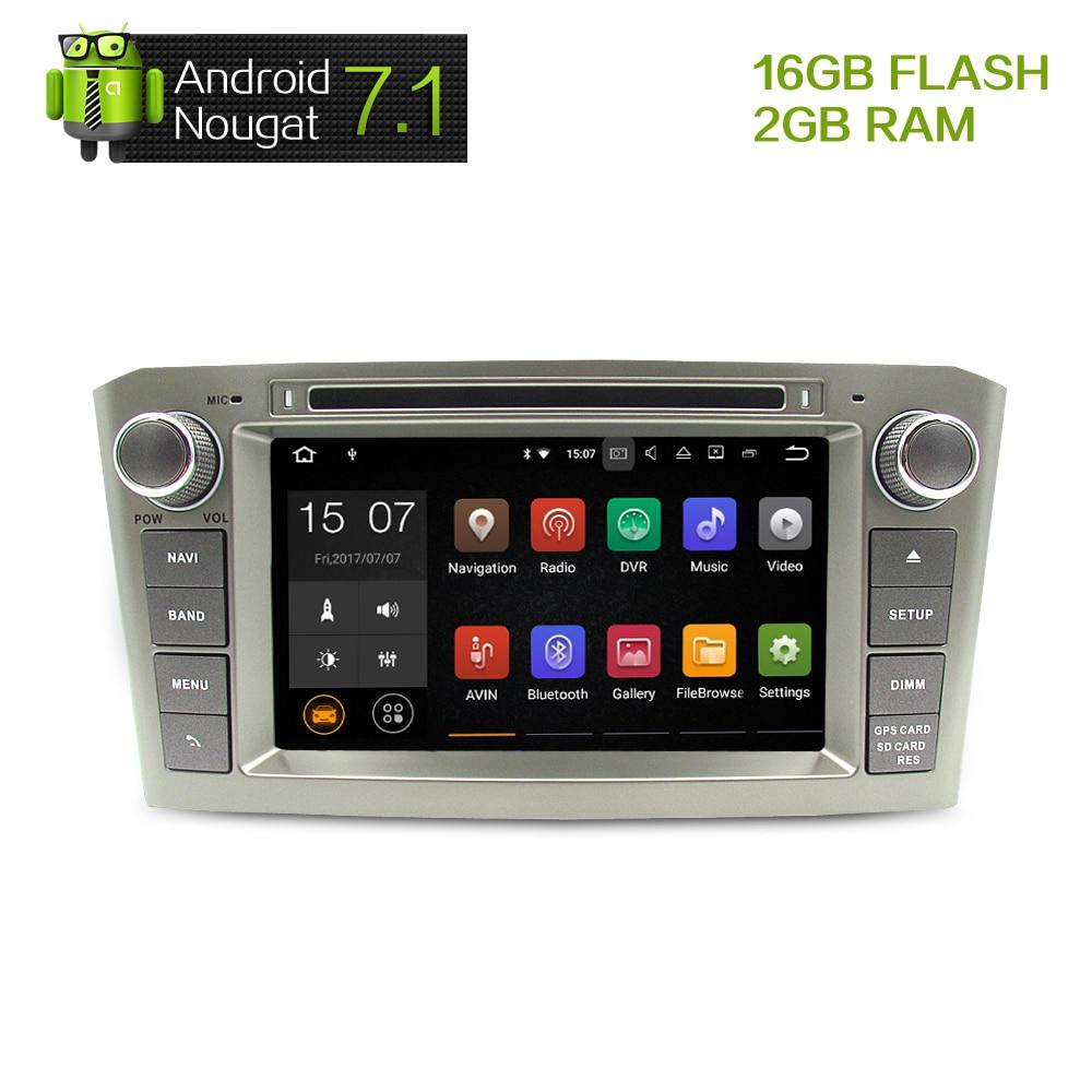 """imágenes para 7 """"HD 2G RAM Android 7.1 Del Coche DVD Headunit Estéreo Para Toyota Avensis 2003-2008 PC Auto Radio GPS de Navegación de Audio y Vídeo estéreo"""