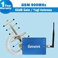 Lintratek gsm 900 repetidor de sinal 65db ganho gsm amplificador de sinal de celular gsm 900 mhz impulsionador móvel celular antena yagi conjunto