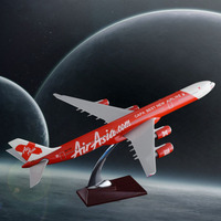 47cm Resin A340 Airplane Model Air Asia Airways Model Asian International Aviation Model Creative Gift Aircraft Collection Gift
