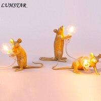 Итальянская дизайнерская Мышь смоляная лампа творческий декоративные настольные лампы для Спальня прикроватный настольная лампа Главная