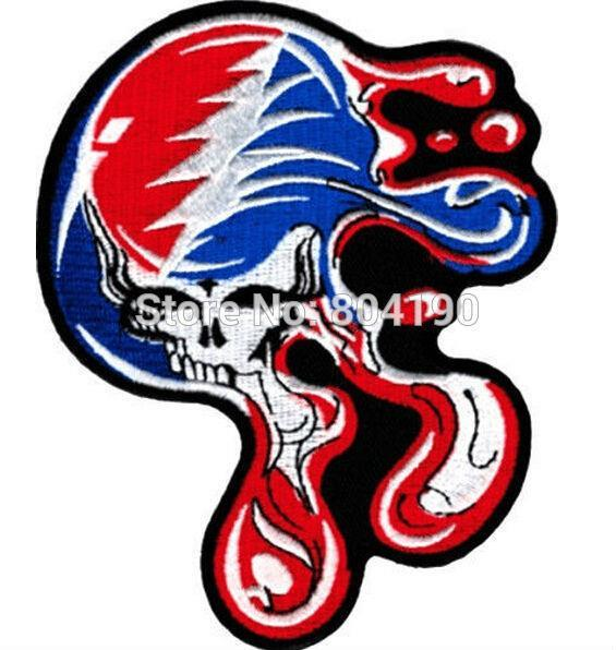 5 BIG Grateful Dead Large Melting Steal Your Face Dripping Skull Music Band Heavy Metal Iron