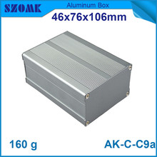 1 piece free shipping aluminium cabinet for electronics electrical switch box for pcb 46*76*106mm