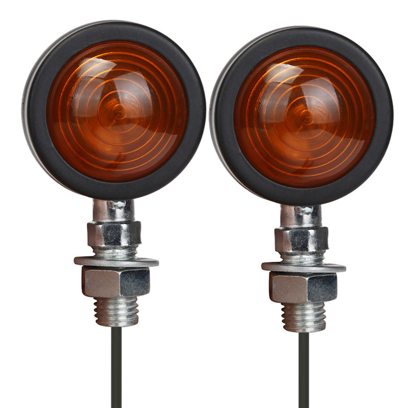 Auto  Retro Metal Motorcycle Turn Signal Lights Indicator Bulb Blinker for Harley Dec27 12v 3 pins adjustable frequency led flasher relay motorcycle turn signal indicator motorbike fix blinker indicator p34