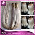 60 cabelo Natural brasileiro virgem I ponta Remy italiano queratina Capsule prebonded U / I vara ponta plana extensões de cabelo loiro preto