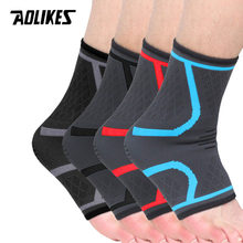 AOLIKES 1PCS Sport Ankle Compression Pad Frauen Gym Fitness Nylon Elastische Unterstützung Fuß Straps Protector Fußball Ankle Brace(China)