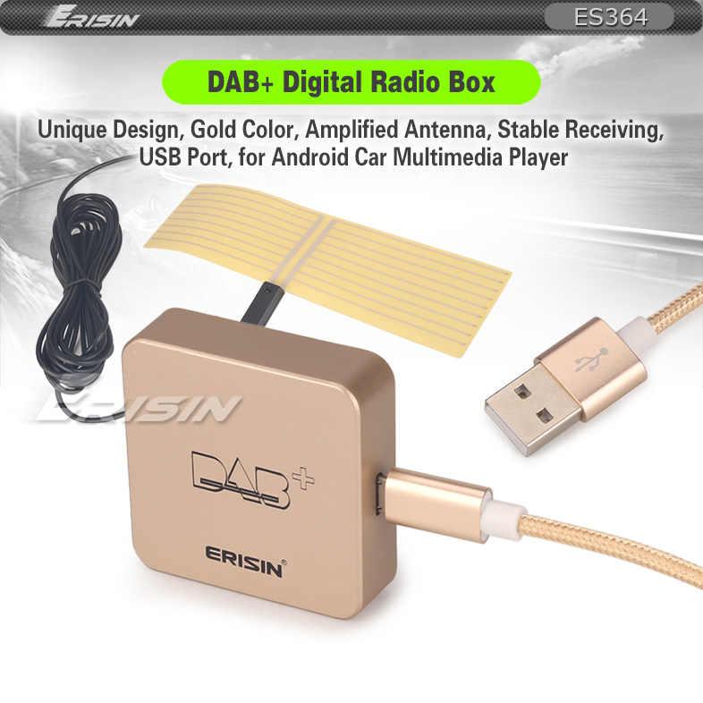 Erisin ES364 DAB + Digitale Radio Doos met Versterkte Antenne voor Android 5.1/6.0/7.1/8.0 Auto stereo