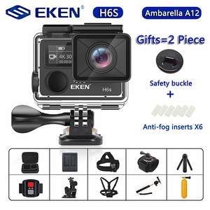Image 1 - Original EKEN H6S Ultra HD Action Camera with Ambarella A12 chip 4k/30fps 1080p/60fps EIS 30M Waterproof Sport Camera