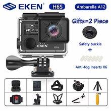 Original eken h6s ultra hd câmera de ação com ambarella a12 chip 4k/30fps 1080p/60fps eis 30m câmera esporte à prova dwaterproof água