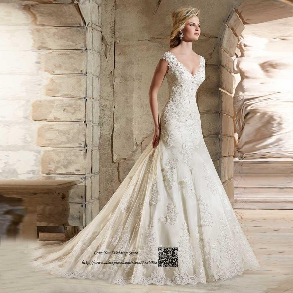 Hennah Mermaid Lace Wedding Gowns: Vestido De Noiva Com Renda China Mermaid Wedding Dresses