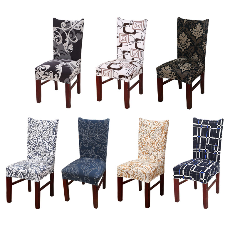 blue dining room chair covers | Plaid Kitchen Chair Cover Stretch Seat Covers Chair Dining ...