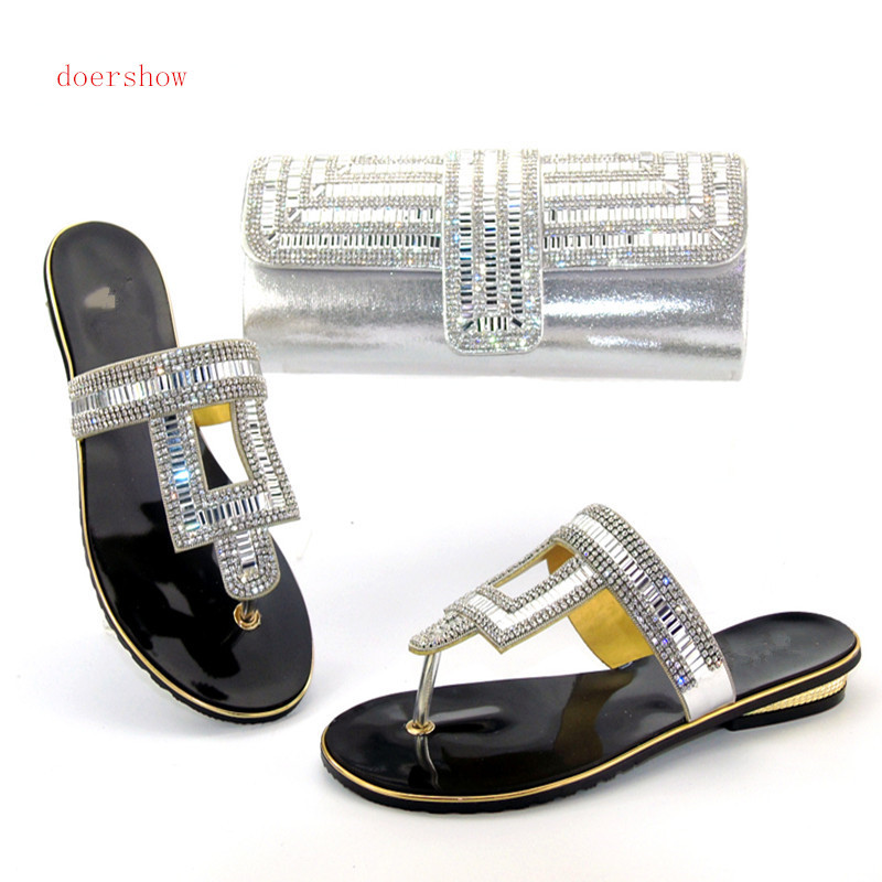 doershow African Shoe and Bag Set for Party In Women Italian Matching Shoe and Bag Set African Wedding Shoe and Bag Sets Hlu1-10 doershow italian shoe with matching bag for party african shoe and bag set new design ladies shoe and bag to match set pme1 14