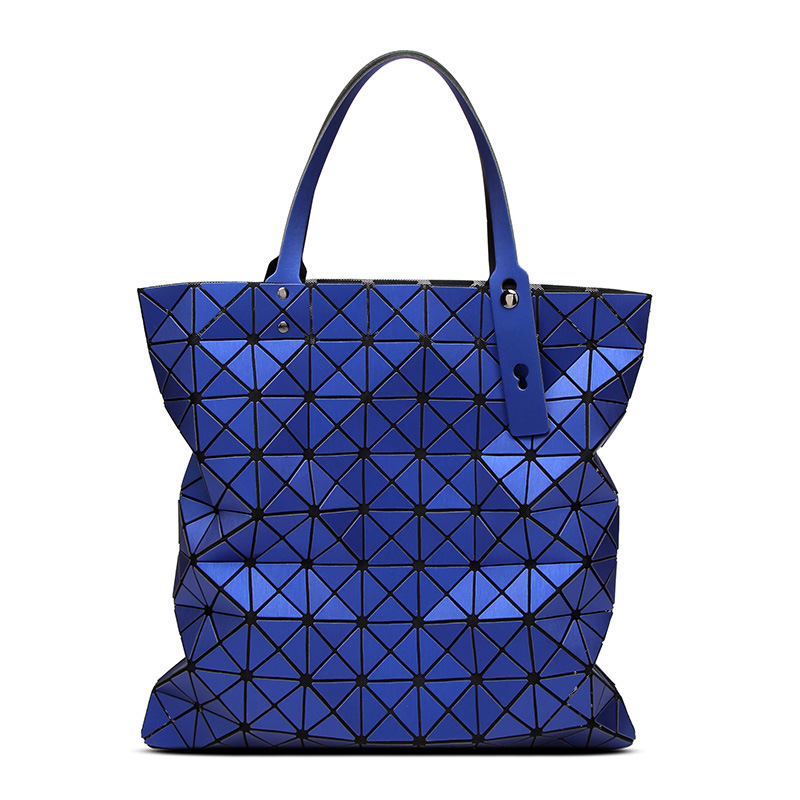 9*9 Laser Print Women Bags Geometric Plaid Folding Luxury Handbags female Bags Designer Large Tote Bag Ladies Evening Bags Bolso 9 brees