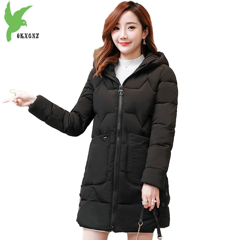 Women Winter   Parkas   2018 New Down cotton Jacket Fashion Hood Tops Students Warm Jackets Plus size Female Cotton coats OKXGNZ2146