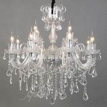 New Arrival home pendant crystal lighting novelty Led candle light chandeliers Art Deco E14 110-240v living room Led Chandeliers(China)