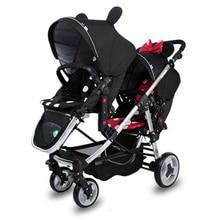 Высокое качество, двойная коляска для близнецов, коляска для близнецов, детская легкая коляска для новорожденных