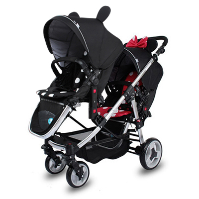 Free Shipping High Quality Twins Stroller Double Strollers Carriage For Twins Prams Newborns  Two Baby Lightweight Stroller