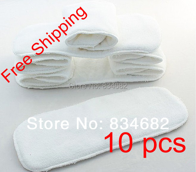 New 10 PCS Washable Microfiber Baby Cloth Diaper Nappy Liners Inserts 2 Layers Super Soft Hot Nappy Liners