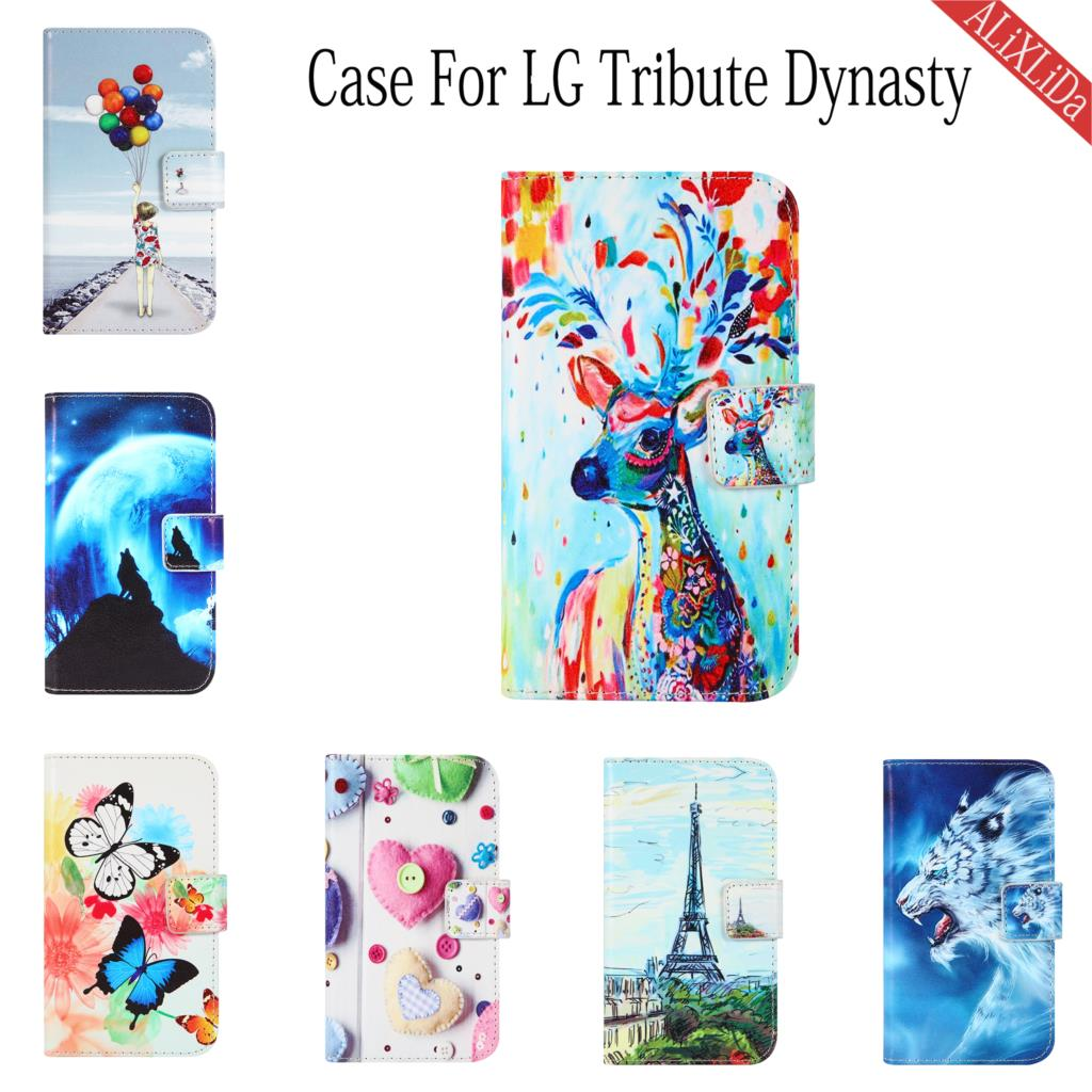 Чехол для LG Tribute Dynasty, Модный высококачественный кожаный защитный чехол с мультяшным рисунком, сумка для мобильного телефона